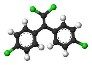 Dichlorodiphenyldichloroethylene - Image: DDE 3D balls