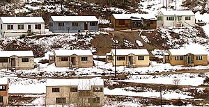 Gilman, Colorado - Abandoned houses on the Gilman town site