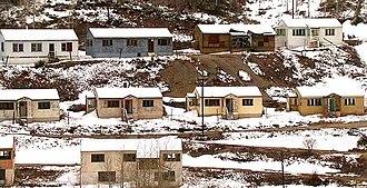Gilman, Colorado - Abandoned houses on the Gilman town site