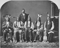 Dakota delegation. Identified, l to r, Little Wound, Red Cloud, American Horse, and Red Shirt. - NARA - 523664.tif