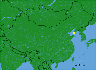 Battle of the Yellow Sea - Location of the battle.