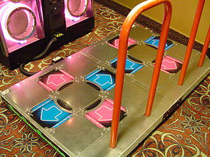 Dance pad - The arcade version of Dance Dance Revolutions two-player dance platform is an example of a hard pad.