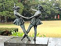 Dancers - Statues in Okayama City, Japan - DSC01742.JPG