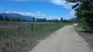 Darby, Montana - Discovery nature trail (East side towards river)