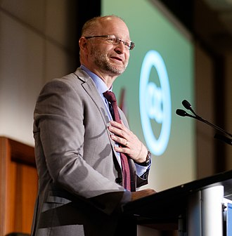 Minister of Justice and Attorney General of Canada - Image: David Lametti, Parliamentary Secretary to the Minister of Innovation, Science and Economic at the Creative Commons Global Summit 2017 (33940702440) (cropped)