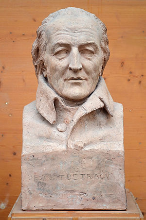 Antoine Destutt de Tracy - Bust of Destutt de Tracy by David d'Angers (1837).