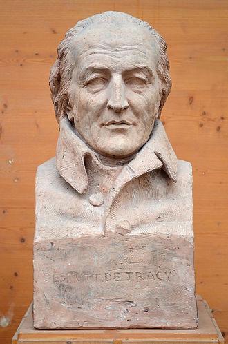 Antoine Destutt de Tracy - Bust of Destutt de Tracy by David d'Angers (1837).