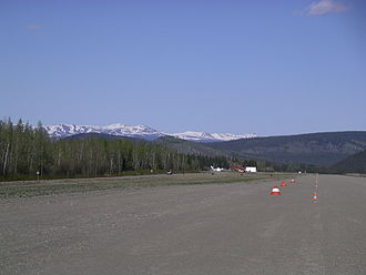Dawson City Airport - Near the threshold of runway 03