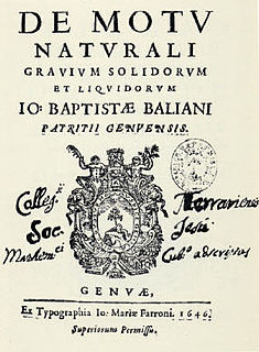 Giovanni Battista Baliani Italian mathematician and physicist