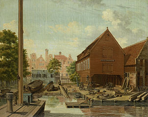 The Shipyard 'D'Hollandsche Tuin' on Bickers Eiland, Amsterdam