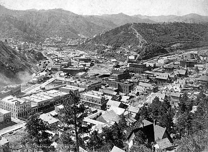 Deadwood birdseye circa 1890s