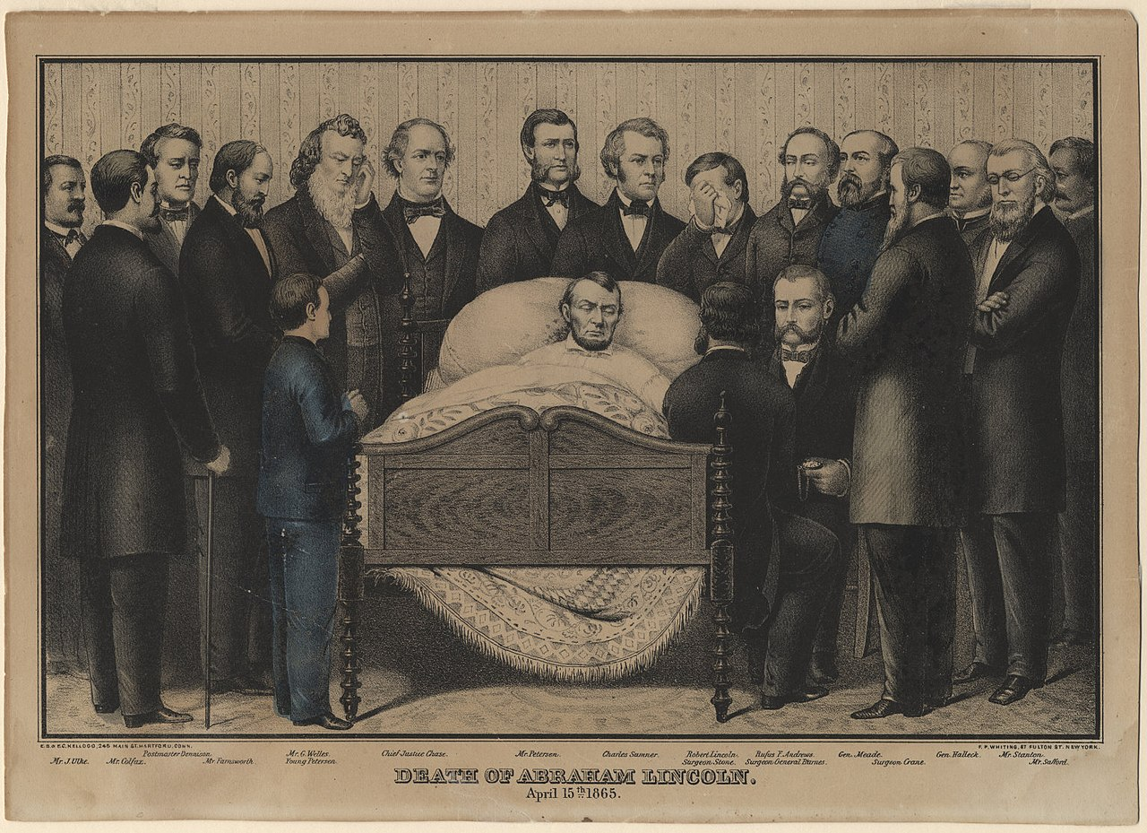 File Death Of Abraham Lincoln Jpg Wikimedia Commons