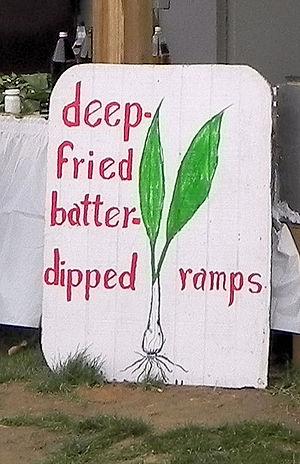 Allium tricoccum - Advertisement at Mason-Dixon Ramp Fest in Mount Morris, Pennsylvania, in 2010.