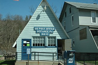 Broad Top Township, Bedford County, Pennsylvania - The post office in Defiance, Broad Top Township