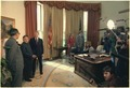Deng Xiaoping and Jimmy Carter meet the press in the Oval Office. - NARA - 183194.tif