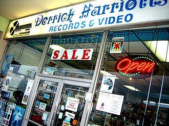 Derrick Harriott - Derrick Harriott record shop, Kingston