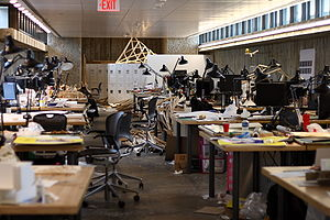Yale School of Architecture - Student desks at the Yale School of Architecture, 2008