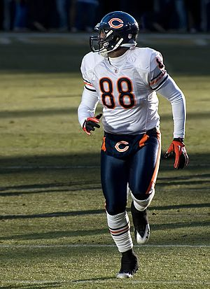 Desmond Clark - Desmond Clark during the Bears game against the Packers on January 2, 2011.
