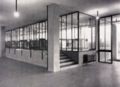 Detail of the innovative entrance, main lobby and stairs of the Italian designer Gualtiero Galmanini, 1955, Italy.png