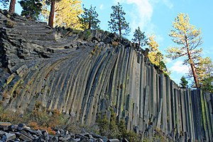 Madera County, California - Image: Devils Postpile National Monument near Mammoth Lakes