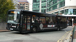 Diamond Bus - Plaxton Centro bodied Volvo B7RLE in Black Diamond livery in September 2010