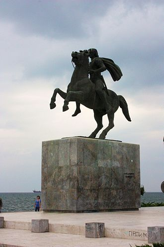 Macedonia (Greece) - A statue of Alexander the Great in Thessaloniki, capital of Macedonia, Greece.