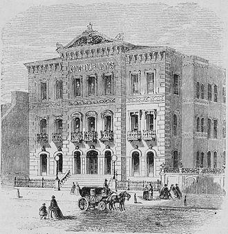 Concordia Hall (Baltimore, Maryland) - The Concordia Hall, presented in 1866 in Die Gartenlaube