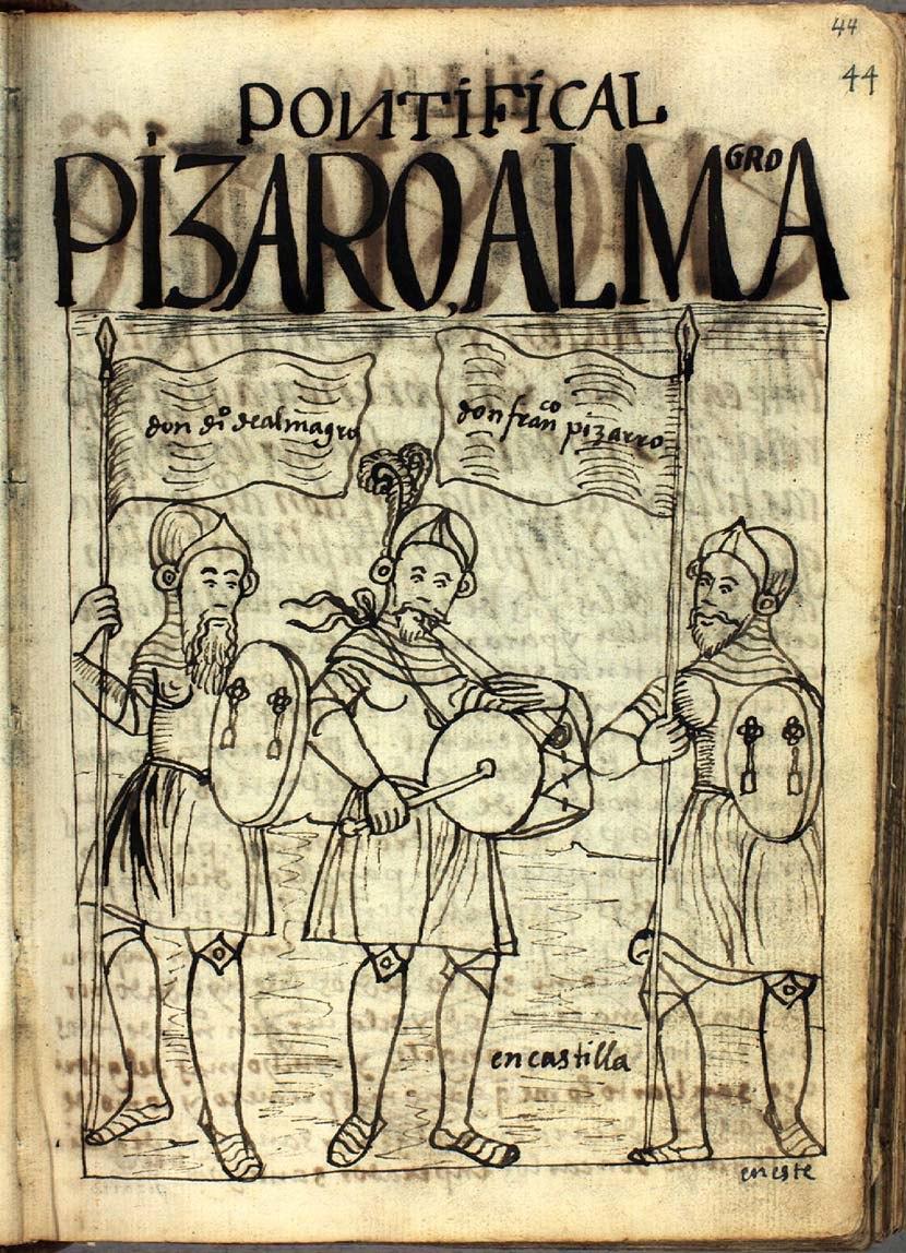 Diego de Almagro y Francisco Pizarro en Castilla