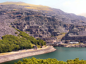 Dinorwig Power Station - Part of the power station as seen on the exterior of Elidir Fawr.