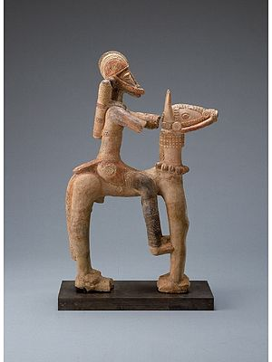 Mali Empire - Mali terracotta horseman figure from the 13th to 15th centuries