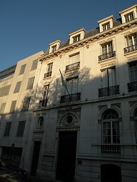 Vue de la mission diplomatique