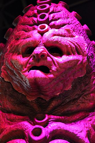 The Day of the Doctor - The Zygon costume and makeup, as shown at the Doctor Who Experience.