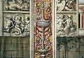 Domenico ghirlandaio, monocromi della cappella tornabuoni (visitazione e annuncio a zaccaria), 1485-90, 03.jpg