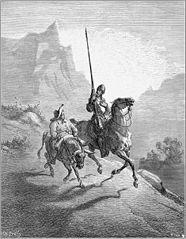Don Quijotte und Sancho Pansa