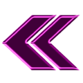 Double arrow magenta neon left.png