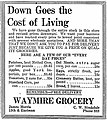 Down Goes the Cost of Living - Waymire Grocery.jpg