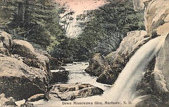 Marlborough, New Hampshire - Image: Down Minnewawa Glen, Marlborough, NH