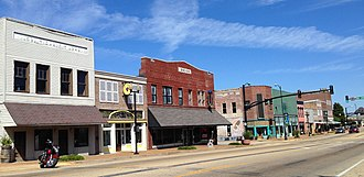 National Register of Historic Places listings in Lee County, Mississippi - Image: Downtown Tupelo 1