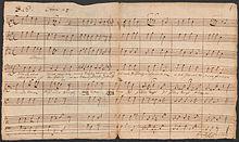 Nun ist alles überwunden, Autograph Dreses aus dem Nachlass Johann Sebastian Bachs (Quelle: Wikimedia)