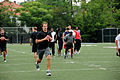 Drew Brees running Saints practice at Tulane.jpg