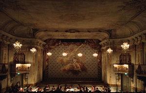 French Theater of Gustav III - Drottningholms slottsteater, interior view