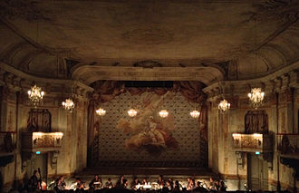 French Theater of Gustav III - Drottningholms slottsteater, interior view