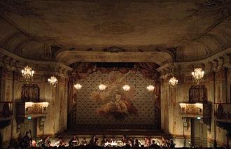 1766 in Sweden - Drottningholms slottsteater, interior view