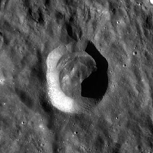 Drude (crater) - Image: Drude crater WAC