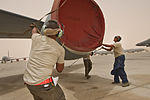 Dust, wind or shine, Aircraft Maintenance works the 'line' 150707-F-BN304-157.jpg