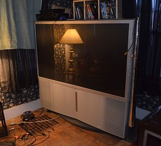 Rear-projection television - Mid 2000s RPTV with HDTV tuner and YPbPr input as well as DVI (digital) video inputs.