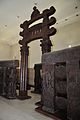 East Gateway with Railings - 2nd Century BCE - Red Sand Stone - Bharhut Stupa - Madhya Pradesh - Indian Museum - Kolkata 2012-11-16 1839.JPG