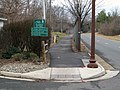 East end of Bluemont Junction trail, January 2017.JPG