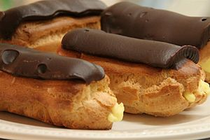 Eclairs with chocolate icing at Cafe Blue Hills.jpg