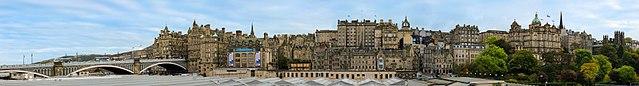Панорама Эдинбурга из Википедии